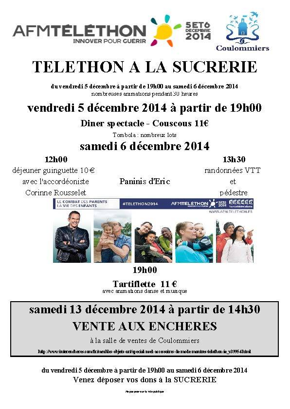 Programme du THELETHON à Coulommiers
